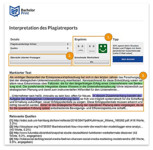 Interpretation des Reports Seite 2