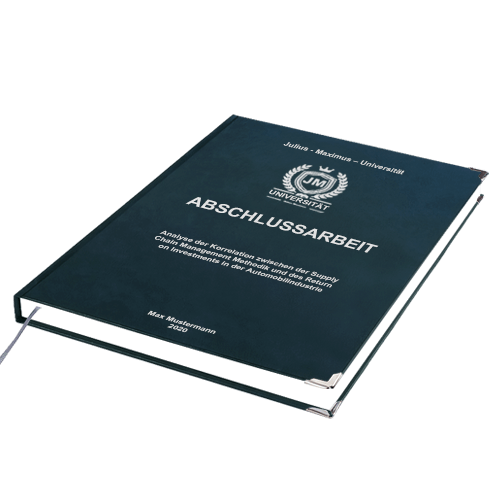 Abschlussarbeit binden Premium Hardcover Empfehlung