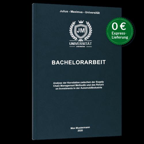 Bachelorarbeit binden Hardcover Premium blau