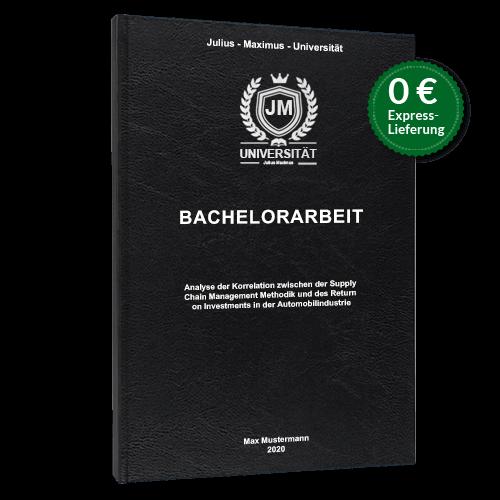 Bachelorarbeit binden schwarz Hardcover Standard