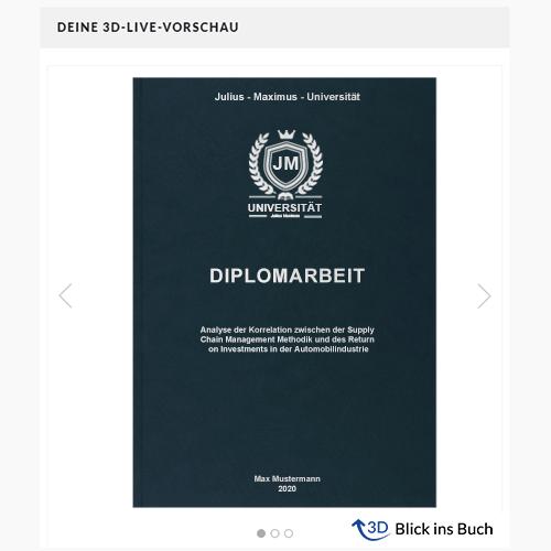 Diplomarbeit drucken Premium Hardcover 3D Vorschau
