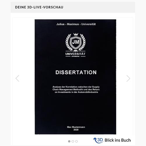 Dissertation binden Magazinbindung Live Vorschau