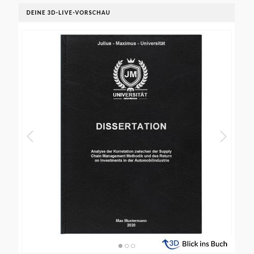 Dissertation drucken Hardcover Standard Vorschau
