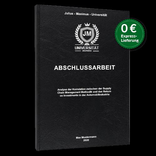 Abschlussarbeit binden Hardcover Standard