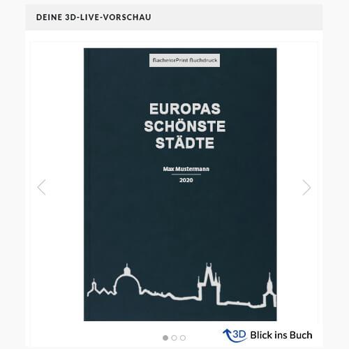 Buch drucken Premium Hardcover 3D-Vorschau