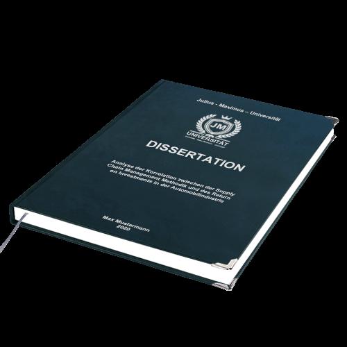 Doktorarbeit binden Premium Hardcover liegend