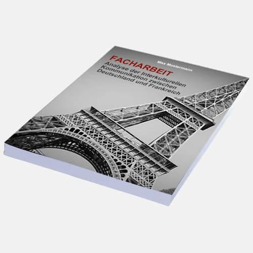 Facharbeit Magazinbindung eigenes Cover binden