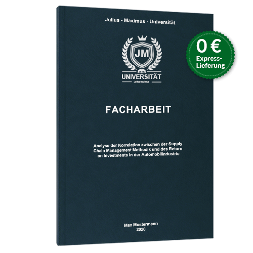 Facharbeit Premium Hardcover blau online binden