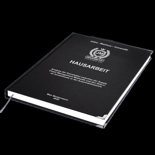 Hausarbeit binden Standard Hardcover liegend