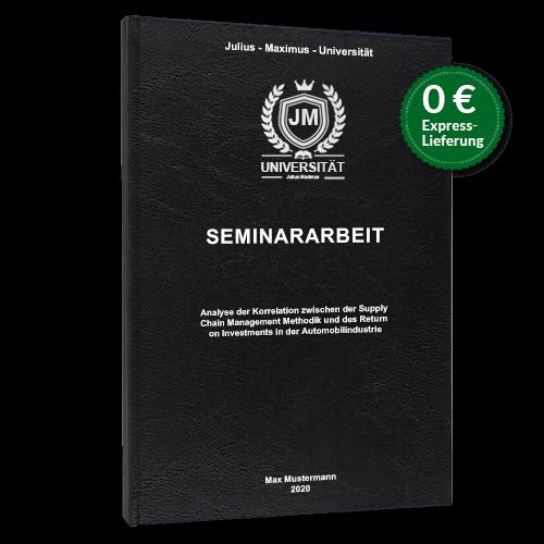 Seminararbeit Standard Hardcover stehend