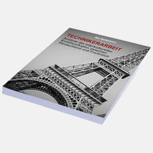Technikerarbeit Magazinbindung eigenes Cover binden