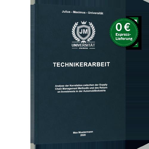 Technikerarbeit Premium Hardcover hochwertig drucken binden