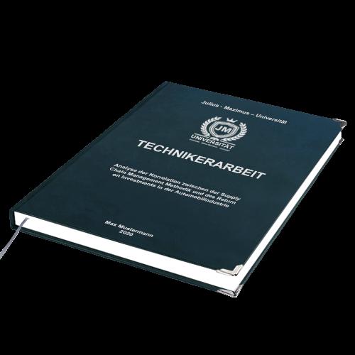 Technikerarbeit Premium Hardcover online binden drucken