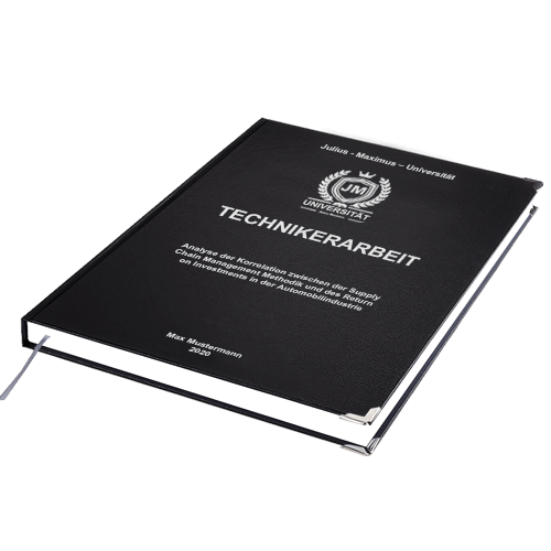 Technikerarbeit Standard Hardcover drucken binden online