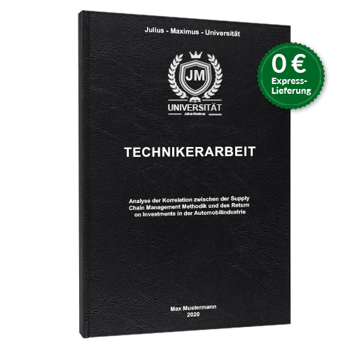 Technikerarbeit standard hardcover binden online