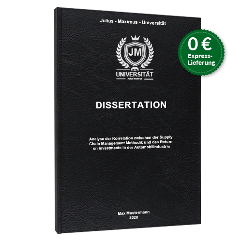 Dissertation binden Standard Hardcover
