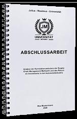 Abschlussarbeit Bochum Bindungen