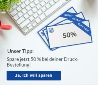 Copyshop Chemnitz 50 Prozent sparen
