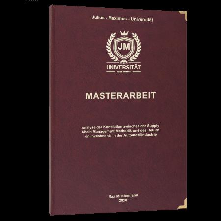 Masterarbeit binden Bayreuth