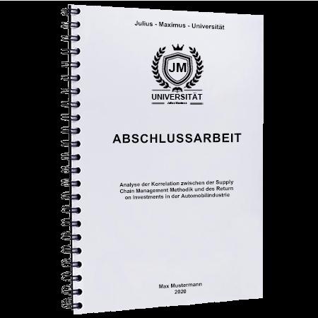 Abschlussarbeit binden Marburg