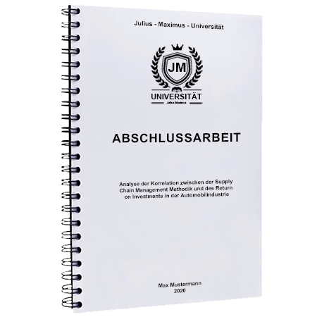 Abschlussarbeit binden Würzburg