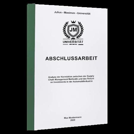 Abschlussarbeit drucken Würzburg