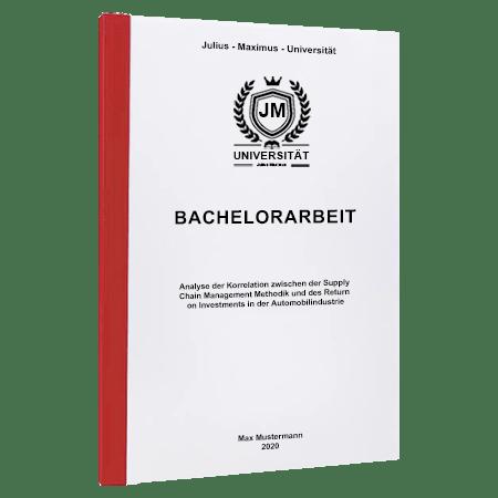 Bachelorarbeit drucken Würzburg