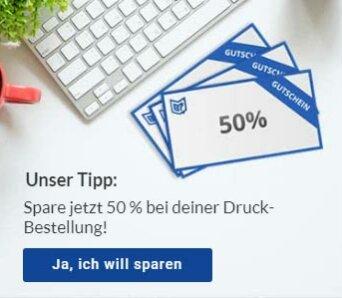 Copyshop Tübingen 50 Prozent sparen