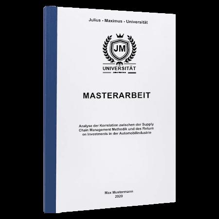 Masterarbeit drucken Marburg